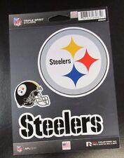 Rico NFL 3 Die Cut Decals Stickers Triple Spirit Helmet Pittsburgh Steelers New