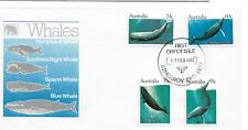 1982 FDC Whales set 4 PM shows 1st Use of this type of PM 1983 FDI 17 Feb 1982