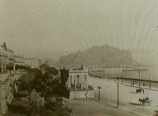 Promenade de la Marine, Palermo, Sicily, Italy, Old Magic Lantern Glass Slide