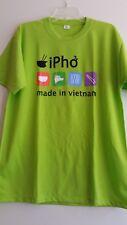 New! T-shirt  lime green ipho Vetnam Mens size XL