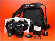 Canon EOS 600D DSLR CÁMARA + EF-S 18-55mm Zoom Lente Kit - 7,547 II fotos tomadas
