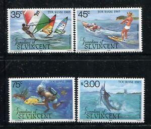 St Vincent Grenadines 484-487  MNH Tourism 1985 Fishing,Scuba diver, x29283