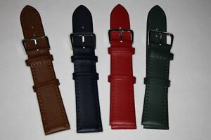 20mm Ladies Watch Strap Genuine Leather Calf Grain. Choice of Colours