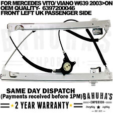 FOR MERCEDES VITO VIANO W639 2003>ON FRONT LEFT SIDE ELECTRIC WINDOW REGULATOR