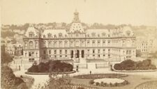 France old CDV Photo 1880 Le Havre City Hall Garden