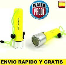 Linterna acuatica Buceo LED Sumergible Montaña Acampada Camping WATER PROOF