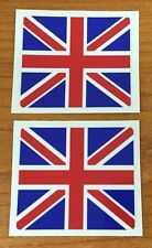 UNION JACK FLAG Stickers - Decals - 2 x 45mm  Quality Printed & Laminated