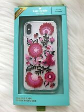 new kate spade Iphone X Jeweled Garland Case Red Pink