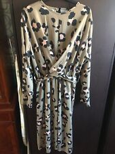 Boohoo Womens Leopard Print Dress. Size 20. VGC. Midi Length. Long Sleeves