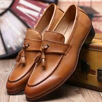 Fashion Men's Formal Dress Wedding Leather Shoes Tassel Casual Loafers Slip On