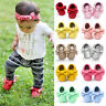 Baby Moccasins Shoes Newborn Mary Jane Boys Girls Princess Soft Leather 0-24M