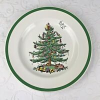 """Spode Christmas Tree 10.5"""" Dinner Plate S3324 Green Trim Made in England"""