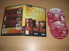ROME Total War ANTHOLOGY Pc DVD nm b inc Barbarian Invasion & Alexander Add-Ons