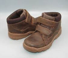 """""""DIGGY GUY INF""""Clark's Boys Dark Brown Leather Boots size 8 F."""