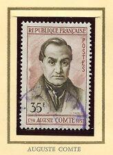 STAMP / TIMBRE FRANCE OBLITERE N° 1121 / CELEBRITE / AUGUSTE COMTE