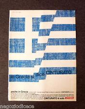 [GCG] P395 - Advertising Pubblicità -1968- CINTURATO PIRELLI , IN GRECIA