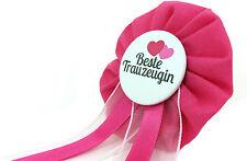Orden BESTE TRAUZEUGIN JGA Button Junggesellinnenabschied schwarz pink Deko