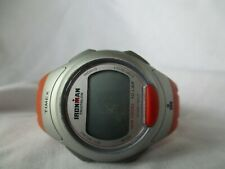 Timex Ironman Triathlon Digital Sports Watch, Orange Buckle Band, WORKING!