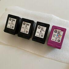 More details for hp 304 genuine empty ink cartridges tri-colour & black
