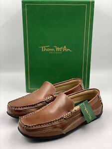 Thom Mcan Brown Loafers Moc Toe Slip On Shoes 20804 Kendrick 2 Men's 7 M