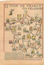 Jeu de Géographie Tour de France Mont Saint-Michel Montmartre Fourvières 1934