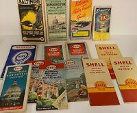 Vintage Automobile Map Collection Lot; Qty 14