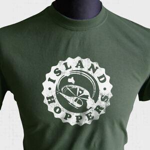Island Hoppers T Shirt Magnum P.I. Retro TV Series TC Chopper Helicopter Green