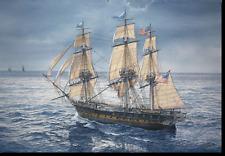 "/""Never Has She Failed Us/"" Tom Freeman Naval Print U.S.S Constitution"