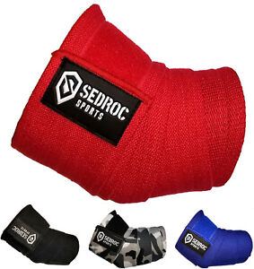 Sedroc Sports Weight Lifting Elbow Wraps Powerlifting Sleeves - Solid Colors