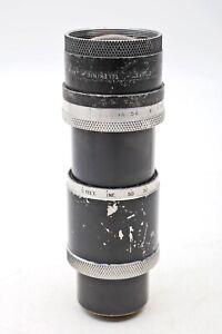 "Cooke Taylor-Hobson 6"" inch (152mm) f4.5 Telekinic Cine C-Mount Lens++READ"
