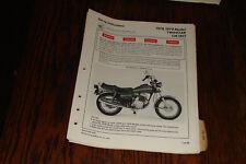 1978 1979 HONDA CM185T Twinstar Set-up Instructions Genuine Honda Dealer OEM