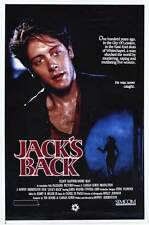 JACK'S BACK Movie POSTER 27x40 James Spader Cynthia Gibb Rod Loomis Rex Ryon