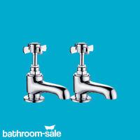 Royal Bensham Basin Pillar Chrome Bathroom Taps - Genuine | RRP: £119