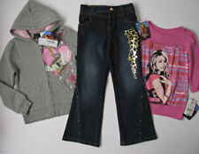 Nwt Hannah Montana Lot girls sz 5 Hoodie Top and Jeans Back to School Outfit New