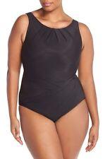 Miraclesuit Asbury One Piece Swimsuit black underwire 449006 BNWT US16-AU 18
