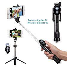 Extendable Selfie Stick Tripod Remote Bluetooth Shutter For iPhone X 6 7 8 Plus