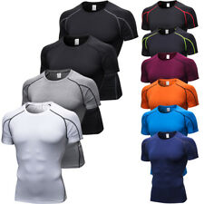 Men's Short Sleeve T-Shirt Workout Compression Baselayer Jerseys Tops Tight fit