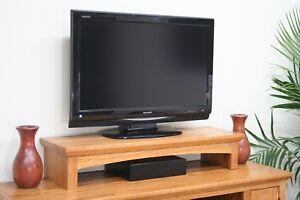 TV Riser Stand Shaker Style with Medium Oak Finish