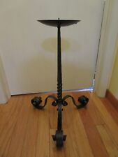 """Brutalist Wrought Iron Stand Pillar Candle holder West Germany 25""""T machine age"""