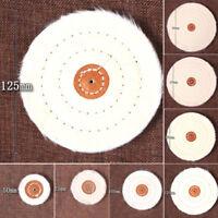 "Hot 4''/100mm Cloth Buffing Polishing Wheel 1/2"" Arbor Buffer Polish Grinder Pad"