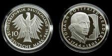 "Germany - 10 Mark 1994 ""G"" Proof ~ Johann Gottfried Herder, silver"