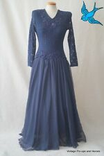 VINTAGE 40s 50s pizzo evening wedding dress size 8-10