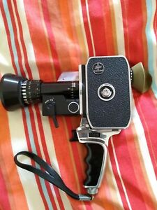 Bolex Zoom Reflex P3 Super 8 Camera With Zoom Lens Pistol Grip Box And Case.