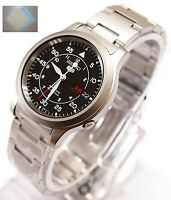 SEIKO 5 SNK809 Stainless Steel Band Automatic Men's Black Watch SNK809K1 + Gift