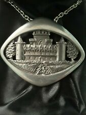 Vintage Ceard Made In Scotland Inveraray Pewter Pendant Necklace.