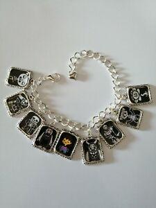 Silver Plated Charm Bracelet With Charms Undertale Frisk Toriel Sans Muffet Soul