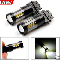 2 Pcs T25 3157/H3 Car Led lights 50W/80W Canbus Festoon Light Bulbs Brake Lights