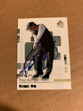 PAUL AZINGER SIGNED 2003 UPPER DECK CARD w/JSA