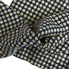 LNWOT Anonymous Made Italy Navy Jacquard Satin Gold Bubbles Silk Pocket Square