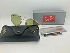 NEW Rayban  GOLD Sunglasses RB3447 90644C ROUND METAL 53MM